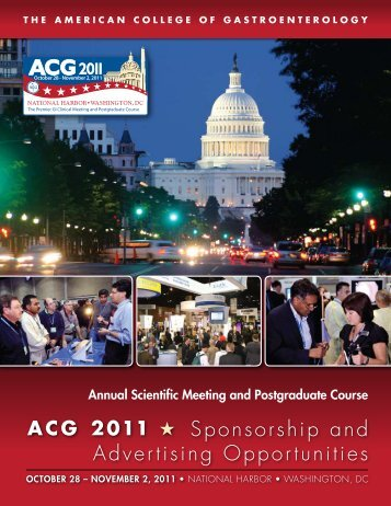 sponsorship and advertising opportunities - ACG - American ...