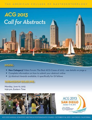 Call for Abstracts - ACG - American College of Gastroenterology