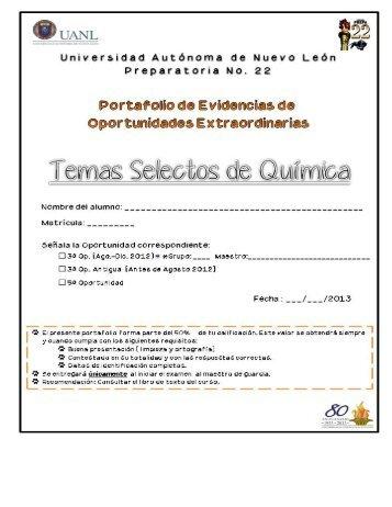 Tercera y Quinta Oportunidad Temas Selectos ... - Preparatoria 22