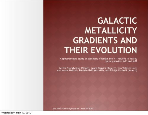 galactic metallicity gradients and their evolution