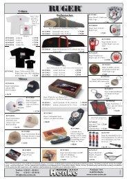 Mützen T-Shirts Waffentaschen - Henke-Online, Heinz Henke