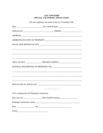 fill out an application