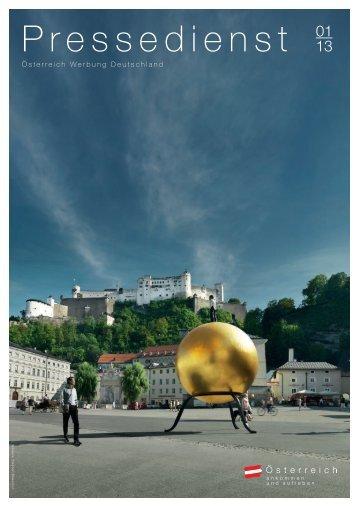 Pressedienst 01|2013 - Newsroom der Österreich Werbung
