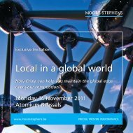 Local in a global world