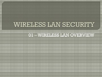 01 - WLAN Overview