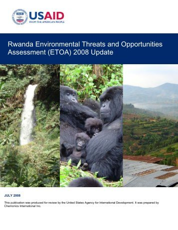 Rwanda Environmental Threats and Opportunities Assessment ...