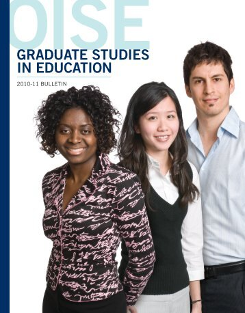 GRADUATE STUDIES IN EDUCATION - University of Toronto