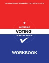 PDF file - Accessible Voting Technology Initiative