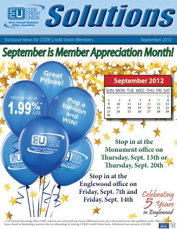 September is Member Appreciation Month! - CODE Credit Union