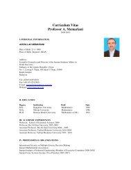 Curriculum Vitae Professor A. Memariani