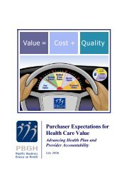 Purchaser Expectations for Health Care Value - Pacific Business ...