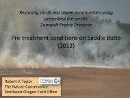 Restoring Shrub and Aspen Communities using Prescribed Fire