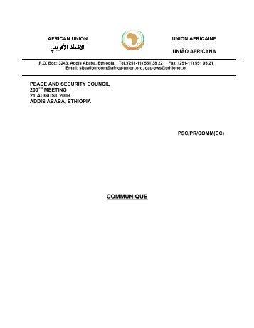 Press Statement - African Union