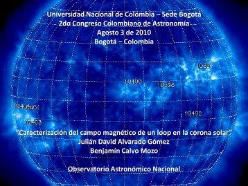 Alvarado, J. - Observatorio Astronómico Nacional - Universidad ...