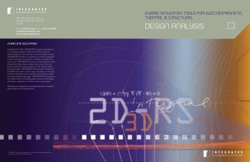 Integrated's Product Line Brochure - INTEGRATED Engineering ...