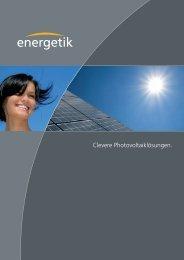 Inhaltsverzeichnis - Energetik Solartechnologie-Vertriebs GmbH
