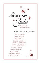 silent auction catalog - Arc Greater Twin Cities