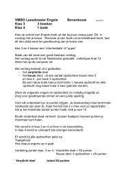 HET VMBO LEESDOSSIER ENGELS - St. Jorisschool Nijmegen
