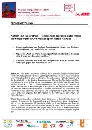Pressemitteilung - Berliner Energieagentur