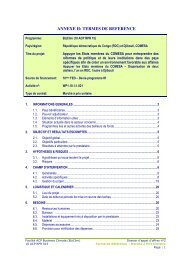 ANNEXE II: TERMES DE REFERENCE - ACP Business Climate