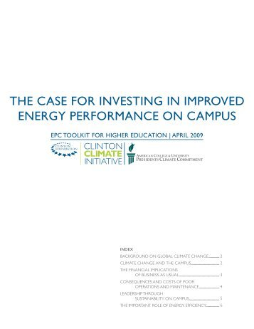 the case for investing in improved energy performance on campus