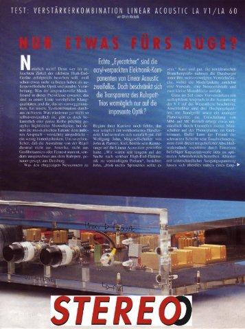 Testbericht LA V1 / LA 60 - Linear Acoustic