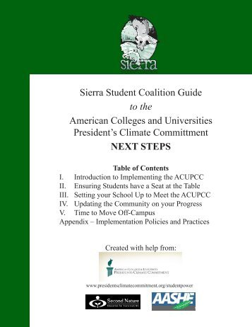 Sierra Student Coalition Guide to the American Colleges and ...