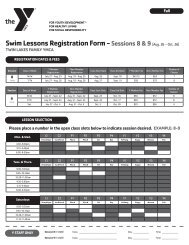 Swim Lessons Registration Packet (Sessions 8-9) - YMCA of ...