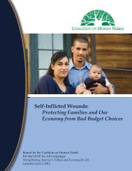 Protecting Families and Our Economy from Bad Budget Choices
