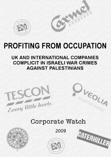 Palestine: Profiting from Occupation - briefing - Corporate Watch