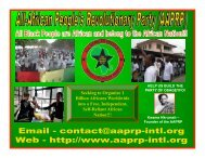What is the A-APRP - All-African People's Revolutionary Party
