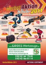 EXTRA! - GROSS-Werkzeuge