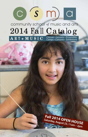 Previous Course Catalog - Community School of Music and Arts