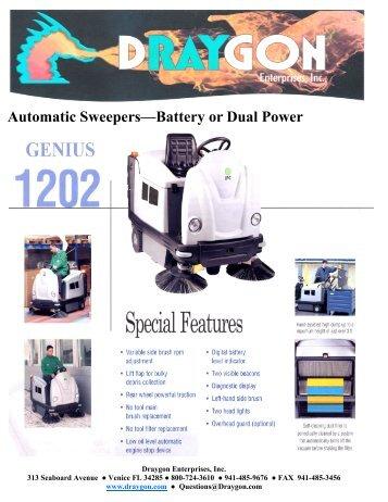 Draygon Genius 1202 Auto Sweeper Brochure [PDF]