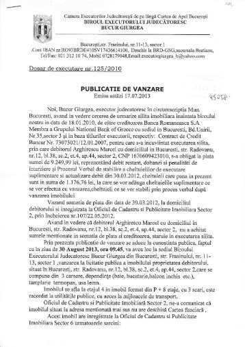 BUCURESTI STR. RADOVANU NR.12 SECTOR 2 - Banca ...