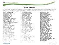 ACHA Fellows - American College Health Association