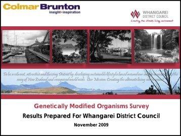 GMO Survey Results - Whangarei District Council