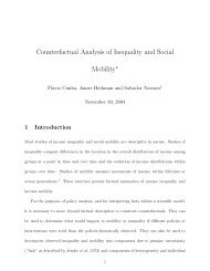 Counterfactual Analysis of Inequality and Social Mobility