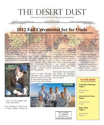 september 2012 - The Oasis Shriners