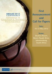 Standards in Education and Training - Umalusi