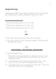 Hauptsatzung - und Kreisstadt Bad Salzungen