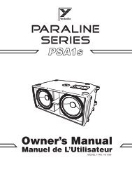 Owner's Manual - Yorkville Sound