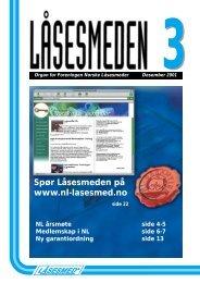 """L""""sesmeden 3-2001 - Foreningen Norske Låsesmeder"""