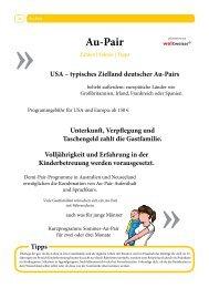 Rubrik Au-Pair - Die Zeitung für Auslandsaufenthalte