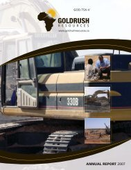 Annual Report 2007 - Goldrush Resources Ltd.