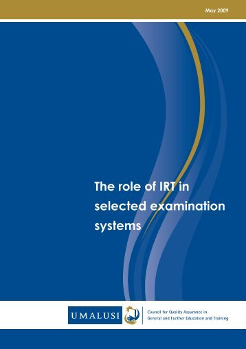 IRT Report: The role of IRT in selected examination systems. - Umalusi