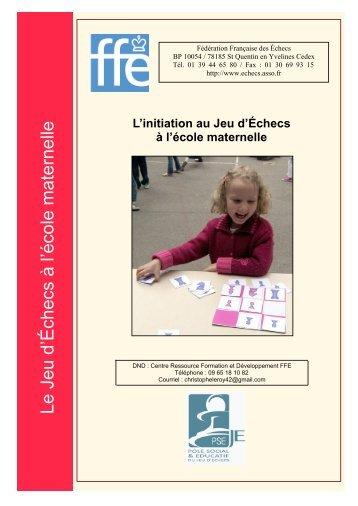 Ecoles maternelles - Fédération Française des Échecs