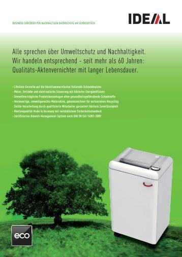 Alle sprechen über Umweltschutz und Nachhaltigkeit. Wir handeln ...