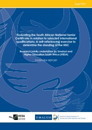Evaluating the South African National Senior Certificate in ... - Umalusi