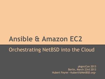 Ansible & Amazon EC2 - Dr. Hubert Feyrer
